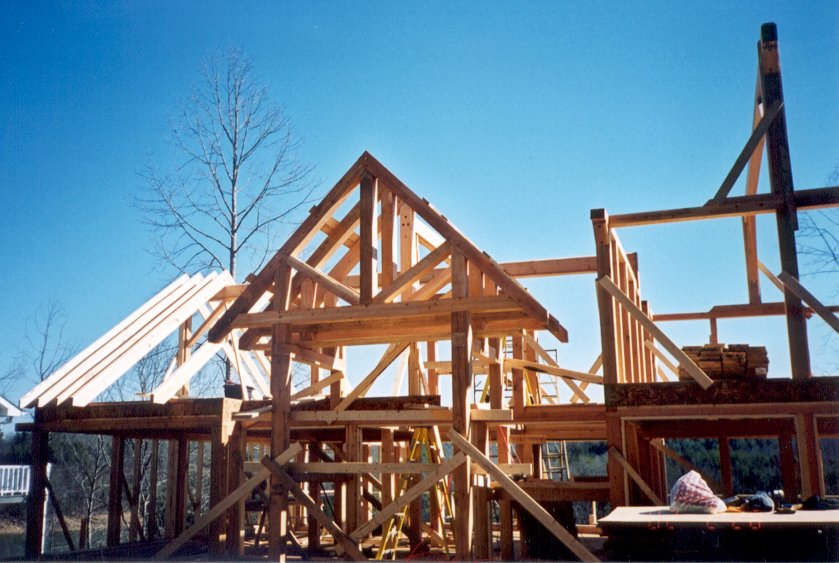 Developers - spec homes of timber post and beam for a beautiful yet cost effective development.