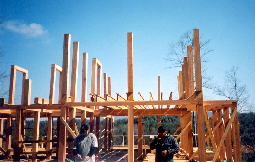 Developers spec homes of custom timber post and beam for a beautiful yet cost effective development.